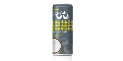 Carbonated coconut water 250ml slim can from RITA India