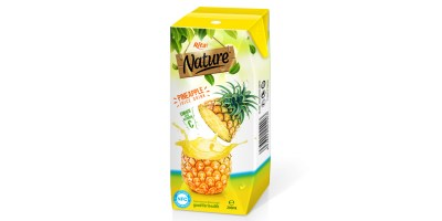 Fresh pineapple Prisma Tetra pak 200ml of RITA India