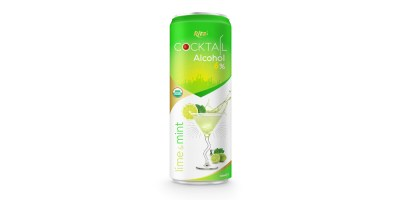 Cocktail 6% alcohol with lime and mint 320ml from RITA US
