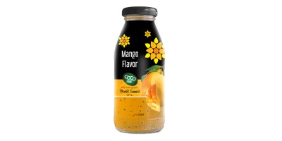 basil seed with mango  flavor 250ml glass bottle from RITA INDIAN