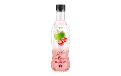 pet bottle 400ml spakling Coconut water caranberry