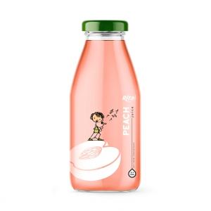 Glass Bottle 250ml Fresh peach Fruit Juice