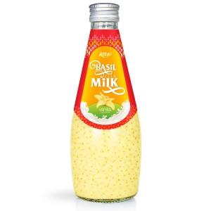 fruit juice brands vanilla with Basil seed Milk 290ml