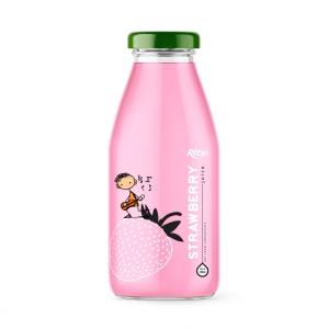 glass bottle 250ml fresh strawberry fruit juice
